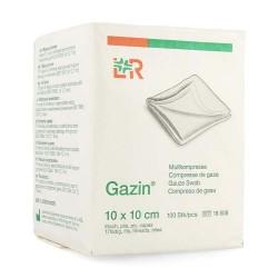 LR Compress Gazin 10x10cm, 100 pièces