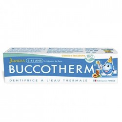 BUCCOTHERM Dentifrice junior 7-12 ans Ice Tea Pêche BIO...